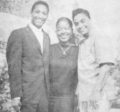 Sam Cooke, Jackie Wilson and friend.