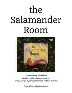 The Salamander Room Lapbook Printables some literacy activities too