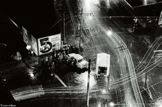 Juntion of Clerkenwell Road and Farringdon Road, 1960: 'I never knew what caused this acci...