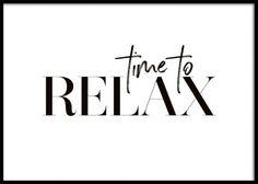Time To Relax Poster in de groep Posters / Posters met tekst bij Desenio AB