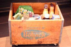 Rolling Vintage Storage Crate