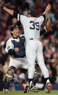 John Wetteland and Joe Girardi, New York Yankees