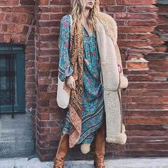 df8053e16f5e8 Amlaiworld Hot Femmes Robes Imprimé Floral Robe bohème à Manches Longues  Soirée Dames Longue Robe Maxi