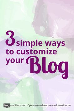 great tutorial for customizing a #wordpress theme. Includes custom background, fonts and colors! Easy!
