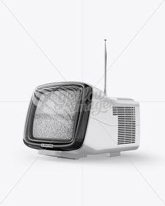 Brionvega Vintage Tv Mockup - Half Side View