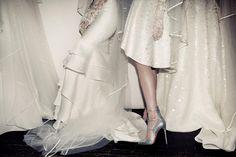 "Das Modell ""Toerless Muse"" Backstage bei Naeem Khan Bridal 2016"