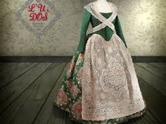 Resultado de imagen de trajes de fallera de 2016 Victorian, Dresses, Fashion, Hipster Stuff, Traditional, Gowns, Moda, La Mode, Dress
