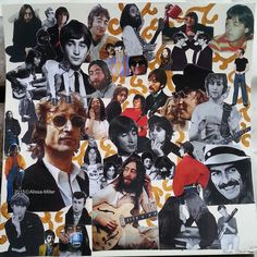 Beatles collage made for Cat's b-day. 2015