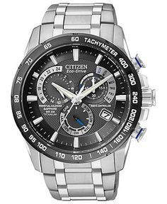 Citizen Watch, Men's Chronograph Eco-Drive Titanium Bracelet 43mm AT4010-50E - Watches - Jewelry & Watches (Macy's)