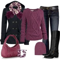 10 Cold Weather Style Outfit Collections are really going to work out your days in cold, and these stylish outfits are from your winter wardrobe essentials. Fashion Mode, Look Fashion, Fashion Outfits, Womens Fashion, Mode Chic, Mode Style, Fall Winter Outfits, Autumn Winter Fashion, Casual Winter