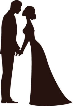 free bride and groom silhouette clip art clipartfox wedding rh pinterest com Bride and Groom Silhouette in White Bride and Groom Silhouette in White