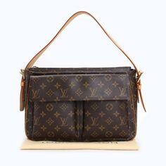 Louis Vuitton Viva Cite GM Monogram Handle bags Brown Canvas M51163