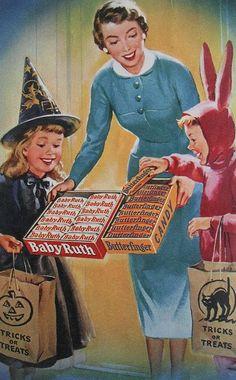 Halloween Candy Vintage ad #Halloween