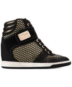 bebe Calisto High-Top Sneakers - Black 8.5M