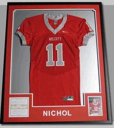This football jersey is mounted on inlaid mats and is completely diy framed jersey for jeremys old jersey see more football jersey shadow box solutioingenieria Gallery