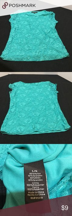 Fever laced teal top Fever least teal top. Fever Tops Blouses