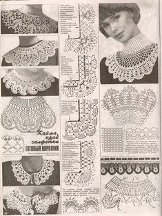 "Photo from album ""Дуплет on Yandex. Crochet Collar Pattern, Col Crochet, Crochet Lace Collar, Crochet Borders, Crochet Woman, Crochet Chart, Thread Crochet, Filet Crochet, Irish Crochet"