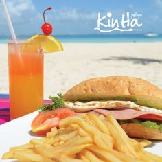 ¡Venga a la Palapa Kin Ha!  Reserve en: reservaciones@beachscape.com.mx  Llámenos al: (998) 8915 400 o sin costo al: 01 800 640 6288