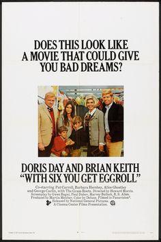 With Six You Get Eggroll (1968)  Stars: Doris Day, Brian Keith, Pat Carroll, Barbara Hershey, George Carlin, Alice Ghostley, Jamie Farr, William Christopher, Herb Voland ~ Director: Howard Morris