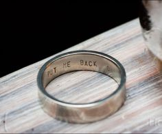 ring - want this engraved on Alex's ring