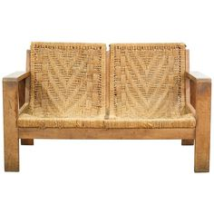 Vintage Rope Settee | From a unique collection of antique and modern settees at https://www.1stdibs.com/furniture/seating/settees/