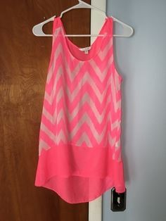 My Pink Chevron Flowy Tank by Charming Charlie! Size 8 / M, Sleeveless & Tank Tops for $$10.00. Check it out: http://www.vinted.com/womens-clothing/sleeveless-and-tank-tops/19936111-pink-chevron-flowy-tank.