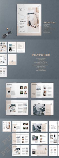 Professional Business Proposal Template #proposal #brochure #template #proposaltemplates #indesign #templates #layout #editorial #business