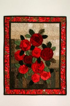 """""""Roses"""" - 50 x 60 cm by melipatch - 2016 Roses, Painting, Home Decor, Art, Scrappy Quilts, Art Background, Decoration Home, Pink, Room Decor"""