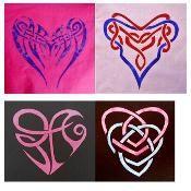 4 Celtic Heart Applique Patterns Set - via @Craftsy