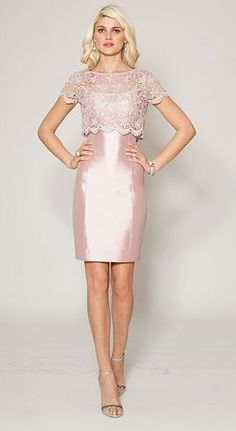 Mother of the bride style: a classic blush cocktail dress by Teri Jon