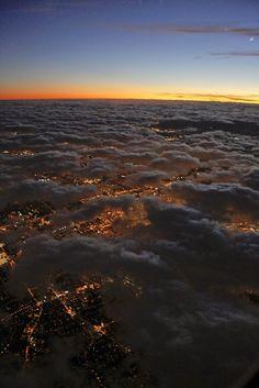 Nuestro Planeta Azul - Google+ Sun setting over urban Earth..
