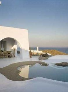 Escape to tropical luxury in Mykonos Mykonos Villas, Mykonos Greece, Crete Greece, Athens Greece, Modern Villa Design, Greece Islands, Beautiful Villas, Greece Travel, Romantic Travel