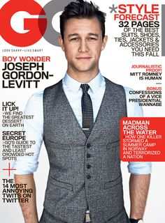 Joseph Gordon-Levitt: Boy Wonder It's been almost twenty years since he was cast as an old geezer trapped in a boy's body on Rock from the Sun. Lately, Joseph Gordon-Levitt has been getting. Joseph Gordon Levitt, Look At You, How To Look Better, Beautiful Men, Beautiful People, Hello Gorgeous, Look Fashion, Mens Fashion, Fall Fashion