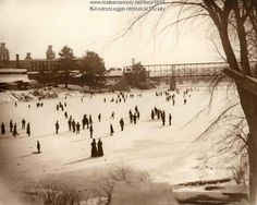 Skating on the Androscoggin River, ca. 1890. Item # 6690 on Maine Memory Network