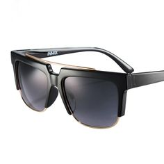 [$59.99] Black Vogue Vintage Chic Aviator Personality Driving UV Protection Sunglasses for Men - Free Shipping