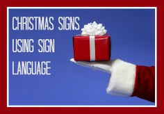 """Laura Berg shares ASL signs for """"Christmas"""", """"Santa"""", """"Sleigh"""", """"Reindeer"""", """"Gifts"""", """"Stocking"""", """"Elves"""", """"Wreath"""", """"Ornament"""", """"Christmas Tree"""", and """"Happy New Year""""!  Great for Baby's First Christmas or for older kids to use as they sing Christmas Carols. @My Smart Hands"""