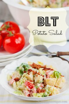 BLT Potato Salad! My family wouldn't stop raving about how awesome this was!