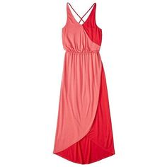 Mossimo Crossover Pink Two Toned Maxi Dress Small