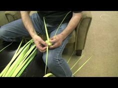 Video Tutorial: Make a Cross from Palm Leaf. For Palm Sunday...so I don't have to look like a loser this year when my kid asks me to make him a cross, lol!