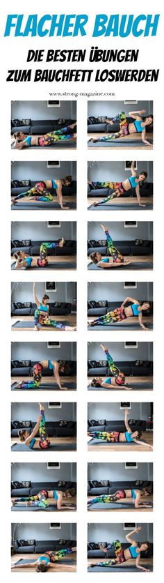 How to get a flat stomach - 16 tips to get rid of belly fat-Wie bekomme ich einen flachen Bauch – 16 Tipps zum Bauchfett loswerden Flat belly – the best exercises for belly fat … - Yoga Fitness, Fitness Workouts, Sport Fitness, At Home Workouts, Fitness Tips, Fitness Motivation, Health Fitness, Fitness Shoes, Fitness Inspiration