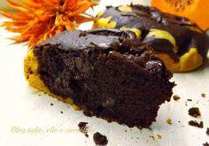 La Torta Zucca e Cioccolato,uno spettacolo di bontà !!!.Mi piace tantissimo la zucca sia nelle preparazioni salate che dolci