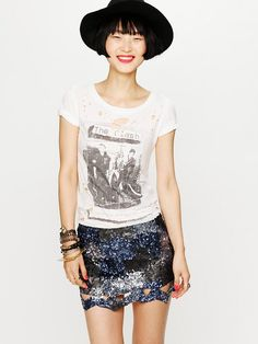 Free People Cut Out Sequins Mini,