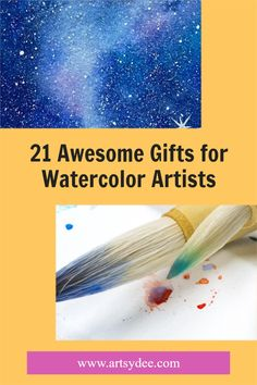 Gifts are a tricky thing when it comes to creativity-infused people (such as artists). You want to get them something they actually want, but gifts should also be things that the artist doesn't already have! Take a look at my list of the best gifts for watercolor artists! Sakura Koi Watercolor, Watercolor Kit, Watercolor Sketchbook, Watercolor Brushes, Watercolor Artists, Watercolor Artwork, Watercolor Illustration, Homemade Watercolors, Cleaning Paint Brushes