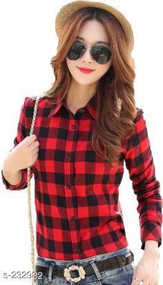 Shirts Trendy Women's Cotton Shirt Fabric: Cotton