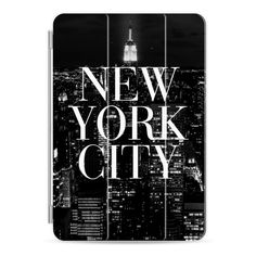 New York City Black and White Vogue Typography Skyline - iPad Cover /... (285715 PYG) ❤ liked on Polyvore featuring accessories, tech accessories, ipad cover / case, ipad cover case, ipad cases, apple ipad cover case, apple ipad case and ipad sleeve case