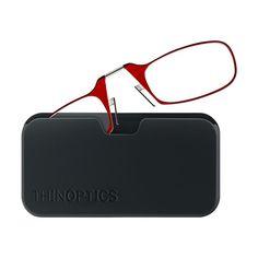 ThinOptics - Universal Pod Case and Reading Glasses - Ruby Red/Black