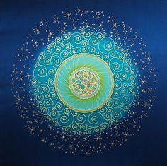 This is one of my most favorite mandalas.  It feels lacey and swirly.  Magical.  Night Sky #Mandala