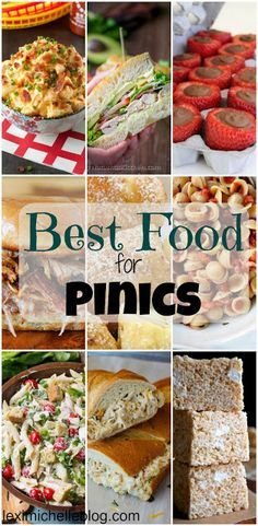 Best picnic foods! Love everything on this list! yum!