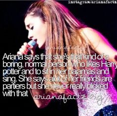 ok I have to be her long lost twin. I'm just like her reading Harry Potter lounging around the house in pjs singing at the top of my lungs! Frankie Grande, Ariana Grande Mac, Ariana Grande Pictures, Ariana Said, Cat Valentine Victorious, Sam And Cat, Jessie J, Jason Derulo, Big Sean