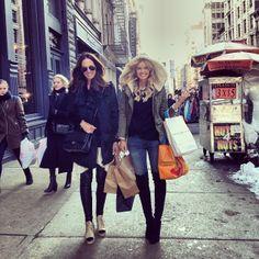 Just some 'light' shopping with the best partner in crime @tashsefton in between meetings… by elle_ferguson